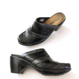 Naot 3 Tone Black Heels Mules Shoes 7
